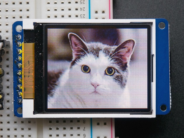 Adafruit 1.8'' TFT LCD screen