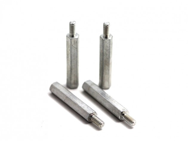 Aluminum Standoff 25 mm Length 2-56 Thread 4 pcs