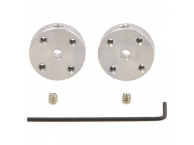 Pololu Aluminum Mounting Hub 3 mm Shaft Pair, 2-56 Holes